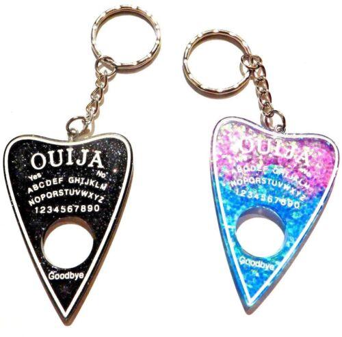 OUIJA BOARD PLANCHETTE KEY RING chain occult glitter sparkle pendant gothic #4G
