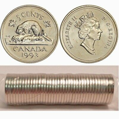 Brilliant Uncirculated 1993 Canada 50 Cents From Mint/'s Roll