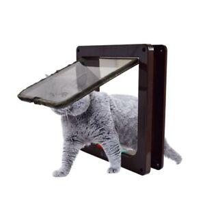 4-Way-Medium-Small-Large-Pet-Cat-Puppy-Dog-Magnetic-Lockable-Gate-Safe-Flap-Door