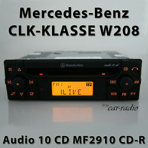 Original-Mercedes-audio-10-CD-mf2910-CD-R-w208-autoradio-CLK-clase-c208-a208