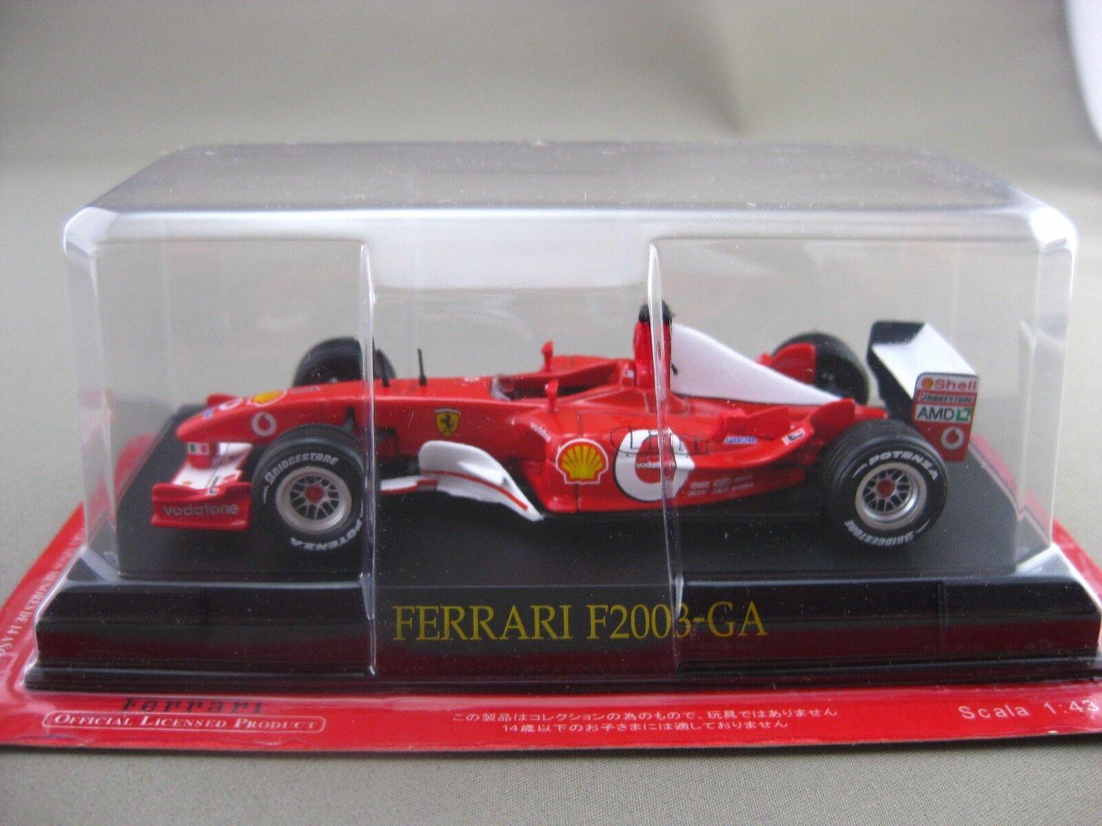 Ferrari F2003-GA Hachette 1 43 Diecast Car Vol.74
