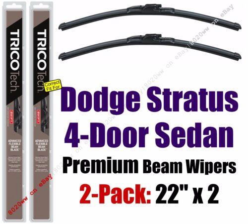 Wipers 2pk Premium Wiper Beam Blades fit 2002-2005 Dodge Stratus Sedan 19220x2