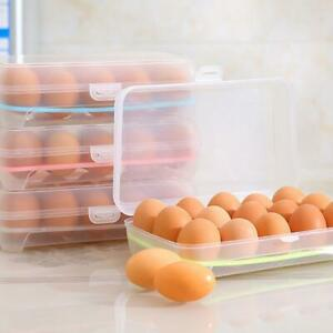 Egg 15 Grids Home Kitchen Refrigerator Storage Box food Container Lid C5H6