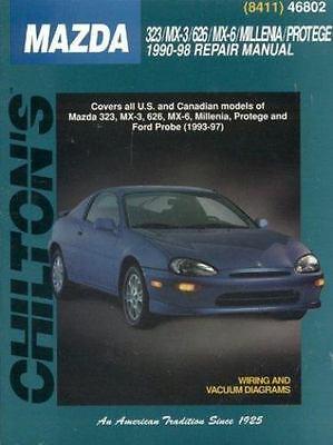 chilton repair manual mazda 323 mx 3 626 mx 6 millenia protege ford rh ebay com 1993 Ford Mustang LX Manual 1993 Ford Probe Base