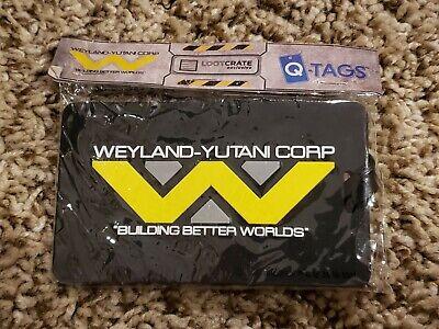 SDCC 2015 Weyland-Yutani Corp Luggage Tag Alien vs Predator Qmx Loot Crate NEW