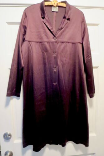 LILITH France Brown Brushed Satin Duster Coat M