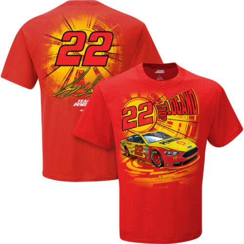 Joey Logano 2016 Checkered Flag Sports #22 Pennzoil Speedbolt Tee FREE SHIP!