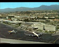 NICE (06) AVION en AEROPORT animé , vue aérienne