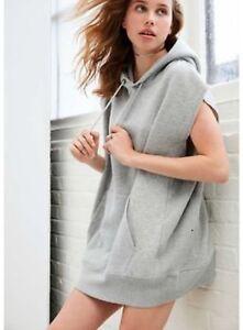 9bd0107121fa6 Image is loading Urbanoutfitter-Unisex-Sleeveless-Hoodie-Sweatshirt -Gray-One-Size