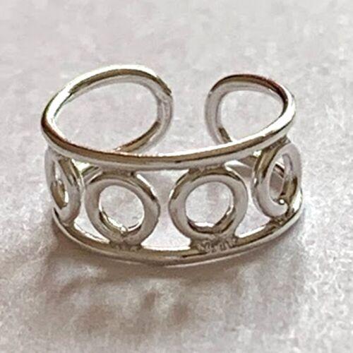 925 plata esterlina oreja dobladillo Wrap Concha pendiente no perforado Círculos Ancho en Caja