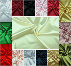 SATIN-FABRIC-Exclusive-Silky-Plain-Dress-amp-Craft-Material-Extra-Wide-High-Quality