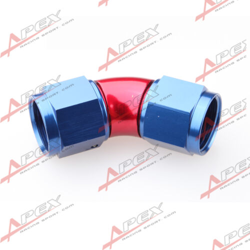 AN-4 AN4 To AN4 45 Degree Female To Female Full Flow Adapter Fitting Red//Blue