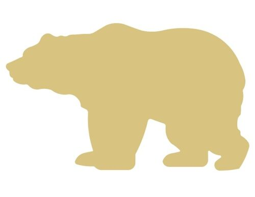 Grizzly Bear Unfinished MDF Wood Cutout Variety of Sizes USA Made Home Decor