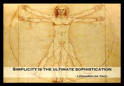 A3 Leonardo Da Vinci INSPIRATIONAL MOTIVATIONAL QUOTE POSTER PRINT #33