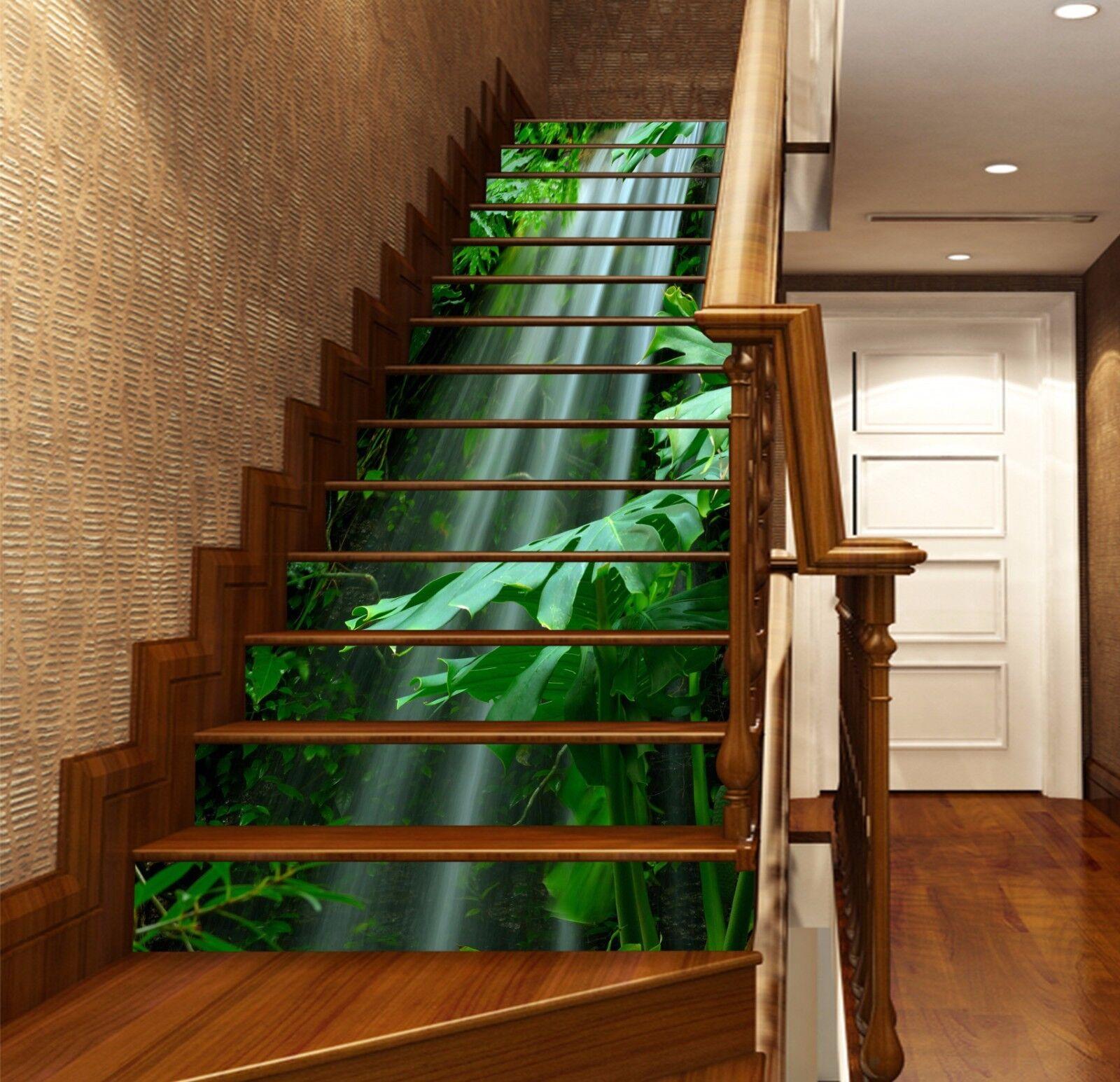 3D Natur Blatt 786 Stair Risers Dekoration Fototapete Vinyl Aufkleber Tapete DE