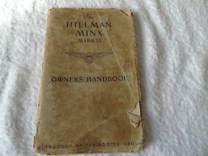 THE-HILLMAN-MINX-MARK-VI-OWNER-039-S-HANDBOOK-1953