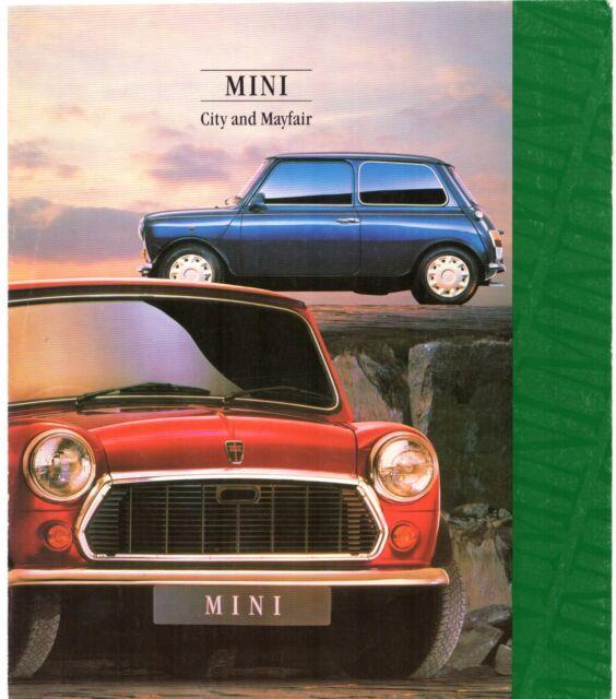 Rover Mini 1000 1992 Uk Market Foldout Sales Brochure City Mayfair