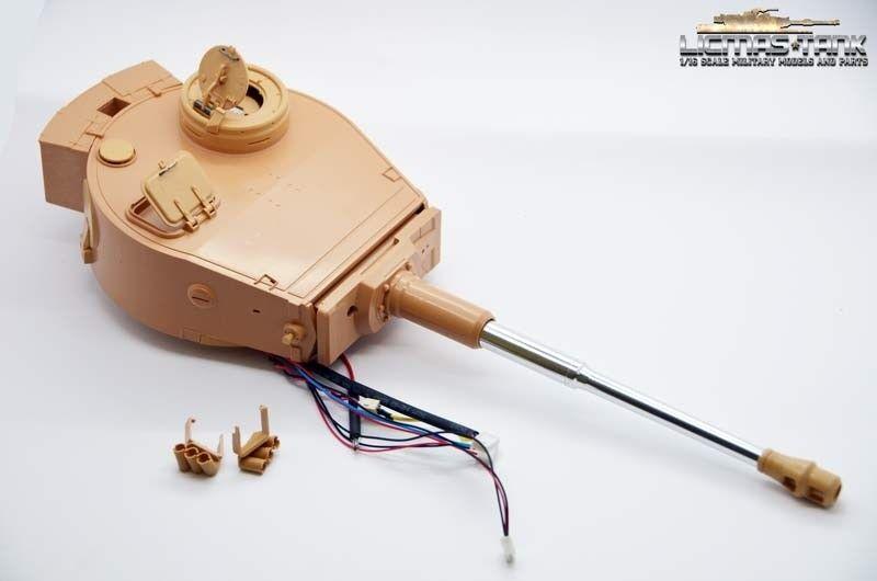 TIGER 1 Panzer plastica Torre con metallo cannone IR RRZ Taigen Heng Long 1:16