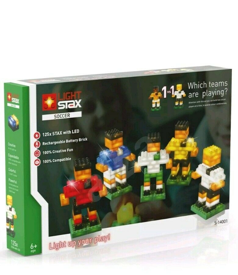 125 piece Light up Stax Stax Stax Soccer building blocks Soccer 4952 LED set 569706