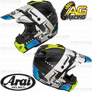 c694444d Arai MXV MX-V Helmet Combat Black Blue Yellow Motocross Enduro ...