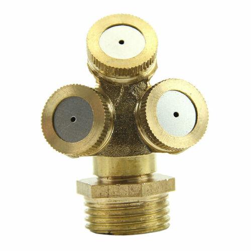 4 Hole Adjustable Brass Spray Misting Nozzle Garden Sprinkler Fi Irrigation E3G7