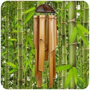 Détails sur Jeu Du Vent Klang-Spiel Bois Bambou Déco Mobile Klangröhren  Jardin Feng-Shui 60