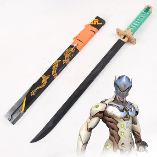 OW Overwatch Genji Young Skin Long Sword with Sheath PVC Cosplay Prop Handmade