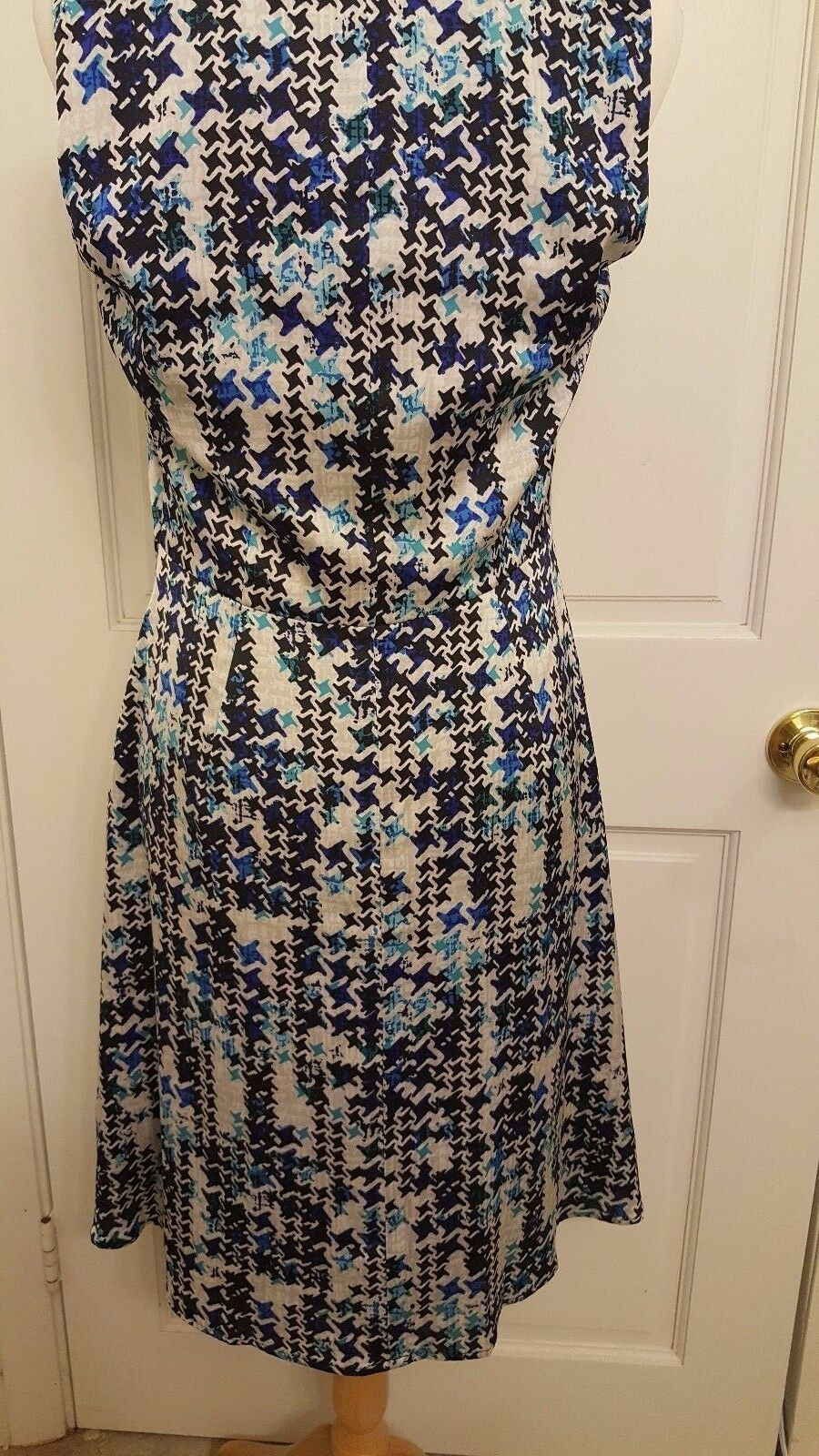 Designer Karl Lagerfeld Multicolor bluee Floral Floral Floral Sleeveless Runway Dress Size 8 d32d00