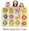 miniature 1 - Nouveau bébé enfants en bois puzzle Puzzle Jouets forme trieur Educational Learning Toy UK