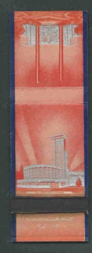 1939-40 NY WORLDS FAIR MATCHBOOK COVER GLASS BLDG SPONSORED BY CORNING