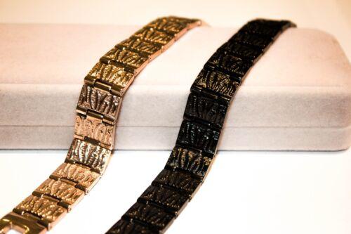 Titanium Magnetic Energy Germanium Armband Power Bracelet Health 6in1 black//gold