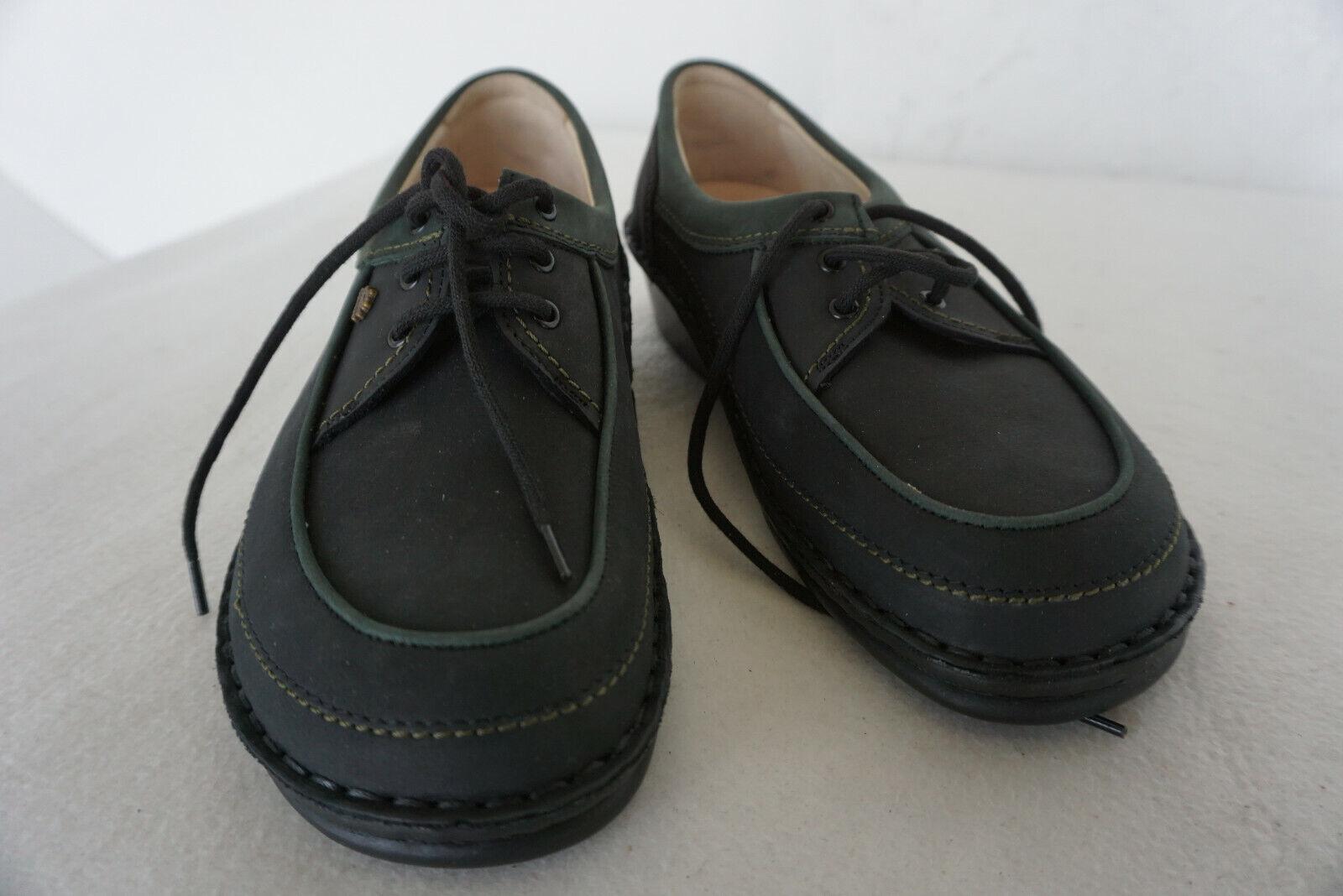 FINN COMFORT Berlin Damen Schuhe Schnürschuhe Einlagen Gr.37 Schwarz Leder NEU