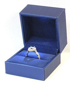 Velvet Ring Box Proposal Ring Box Ring Box Blue Ring Box Engagement Ring Box Navy Ring Box