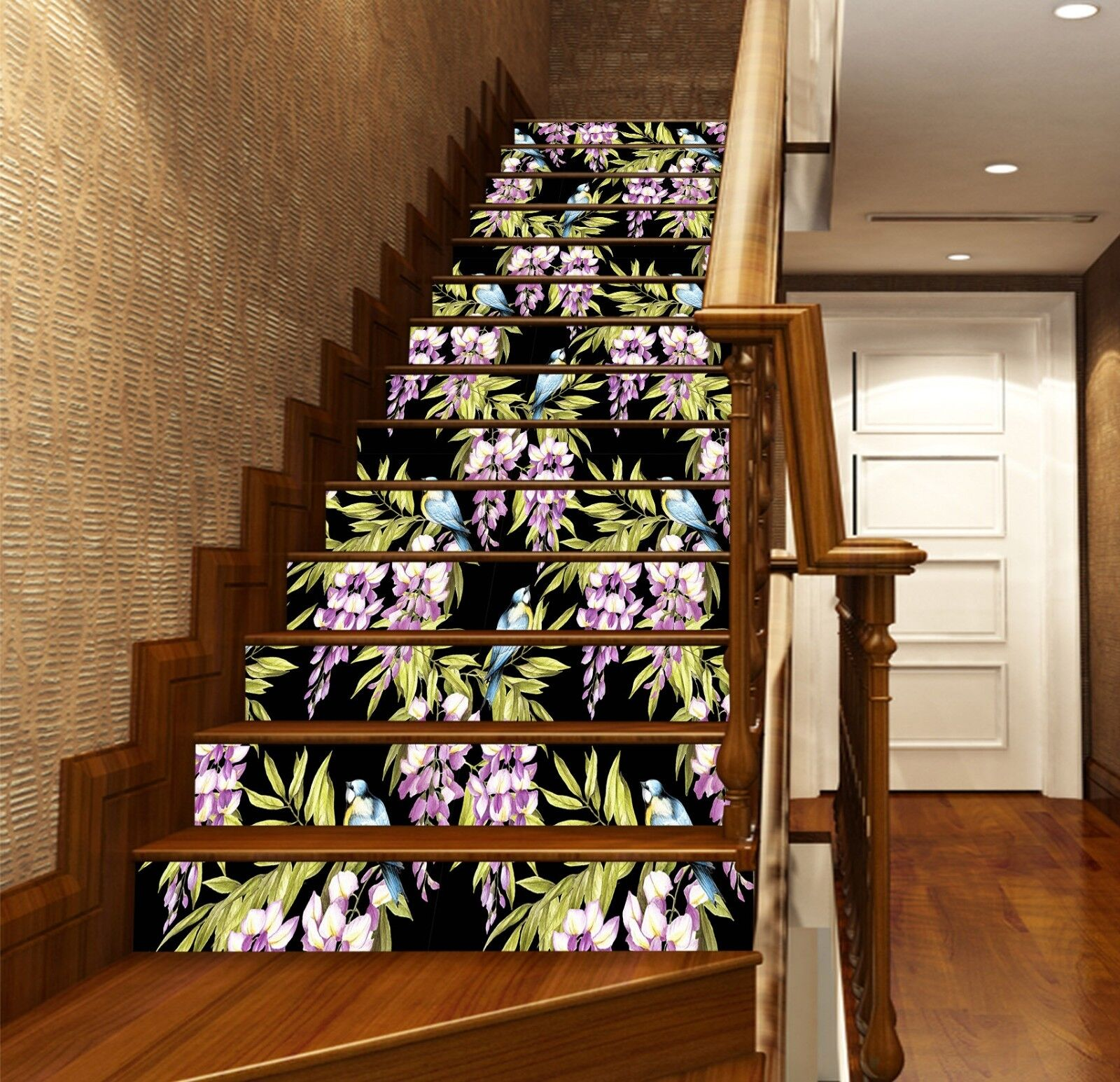 3D Squid Pattern 7 Stair Risers Decoration Photo Mural Vinyl Decal WandPapier UK