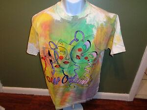 Vintage 1988 New Orleans Silk Screen USA Made Cotton T-Shirt size XL