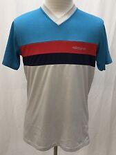 Vintage Adidas Trefoil Multi-Colored V-Neck 50/50 Shirt Men's Large