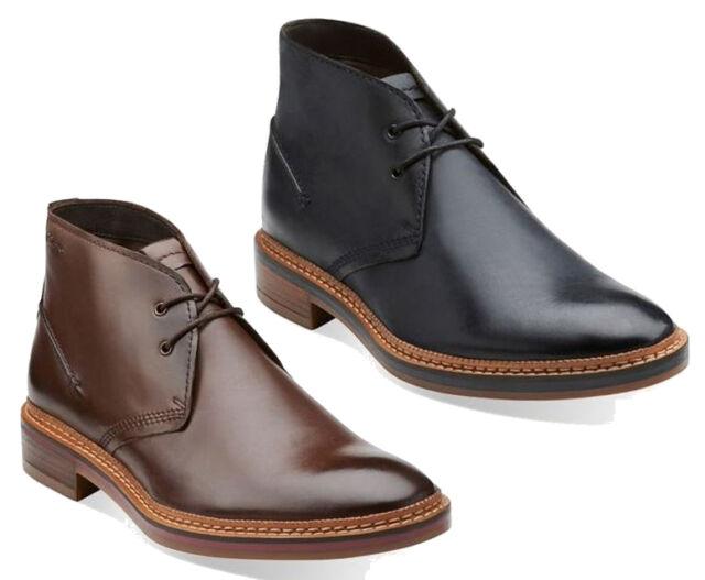 Clarks Stinson Hi Men/'s Dark Tan Leather Wallabee Style Boots 26129528