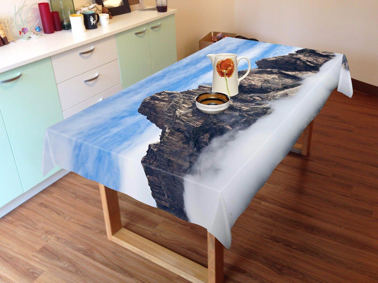 3D Mountain Nappe Table Cover Cloth fête d'anniversaire AJ papier peint Royaume-Uni Citron