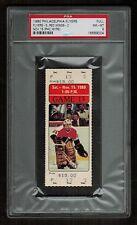 PSA 8 PHIL MYRE Full Unused Philadelphia Flyers Detroit Red Wings Hockey Ticket