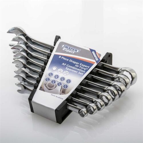 """3//4/"""" Draper Expert 8pc Imperial Combination Spanner Wrench Set Hi-Torq 5//16/"""""""