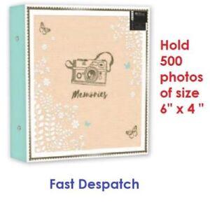 Large-Ringbinder-Photo-Album-500-Photos-Memories-Design-Holds-500-6x4-034-Photos
