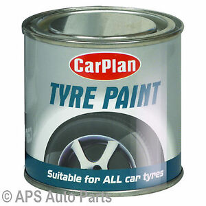 Car-Plan-Tyre-Paint-Black-Tire-Shine-Paint-Tin-Auto-Care-Cleaning-Rubber-250ml