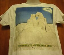 AMERICAN SAND SCULPTING CHAMPIONSHIP small T shirt Fort Myers Beach tee 2013