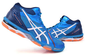 ASICS Gel Volley Elite 3 MT Men s Volleyball Shoes Badminton Blue ... da28570fc5