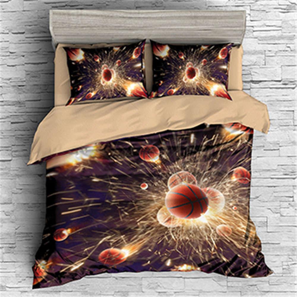 Violent Collision Ball 3D Digital Drucken Bettding Duvet Quilt Startseite Pillowcase