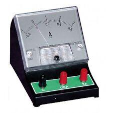 Bench TOP DC amperometro 0-600ma / 0-3A Misuratore analogico ISTRUZIONE SCUOLE COLLEGE ETC