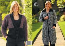 King Cole  Knitting Pattern 2837: Mohair & Aran Jacket & Coat