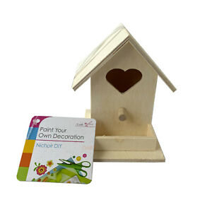 Kids-Fun-Play-Blank-Wood-Birdhouse-Paint-Your-Own-Garden-Nesting-Box-Art-Craft