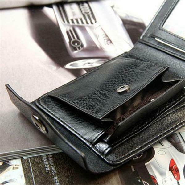 Mens Leather Wallet RFID Safe Contactless Card Blocking ID Protection Y2