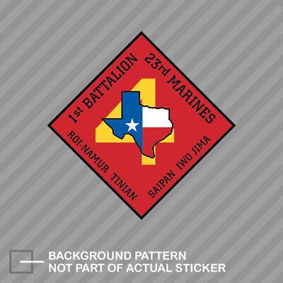 Sticker       USMC Marine Corps 1st Battalion 23d Marine Regiment Decal